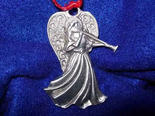 pewter angel ornament