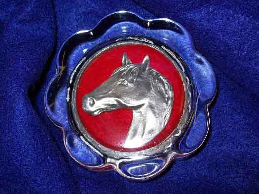 pewter horse paper weight